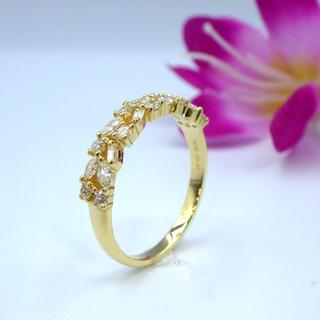 K18YG イエローゴールド 0.43ct ダイヤモンド リング(リング(指輪))