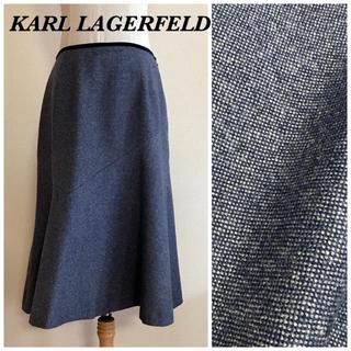 カールラガーフェルド(Karl Lagerfeld)のKARL LAGERFELD アルパカ混ウールツイード フレアスカート(ひざ丈スカート)