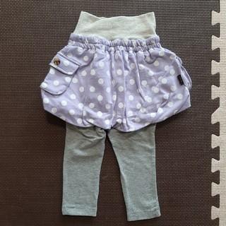 ベルメゾン(ベルメゾン)の新品GITAスカート付パンツ80(パンツ)