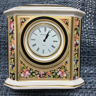 ウェッジウッド(WEDGWOOD)の置時計 ウエッジウッド ボーンチャイナ(置時計)