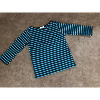 ロデオクラウンズワイドボウル(RODEO CROWNS WIDE BOWL)のRCWB*ボーダーカットソー*ロングTシャツ*ブルー*S(Tシャツ/カットソー(七分/長袖))