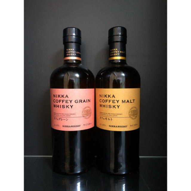 アサヒ(アサヒ)のニッカウイスキー カフェモルト カフェグレーン 2本セット 食品/飲料/酒の酒(ウイスキー)の商品写真