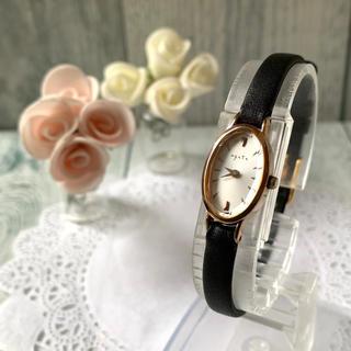 アガット(agete)の【動作OK】agete アガット 腕時計 オーバル ピンクゴールド(腕時計)