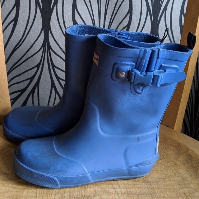 HUNTER(ハンター)のHUNTER レインブーツ キッズ  uk11 ブルー キッズ/ベビー/マタニティのキッズ靴/シューズ(15cm~)(長靴/レインシューズ)の商品写真