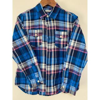 ジーユー(GU)のGU チェックシャツ キッズ140(ブラウス)