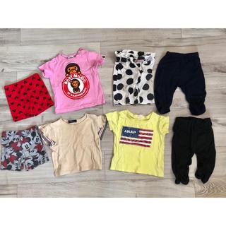 アベイシングエイプ(A BATHING APE)の80《ベビー》女の子 パンツ Tシャツ ANAP バーバリー エイプ ディズニー(Tシャツ)
