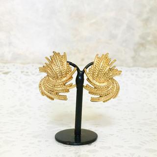 エルメス(Hermes)の正規品 モネット イヤリング ゴールド 金 チェーン デカ モチーフ リーフ 葉(イヤリング)