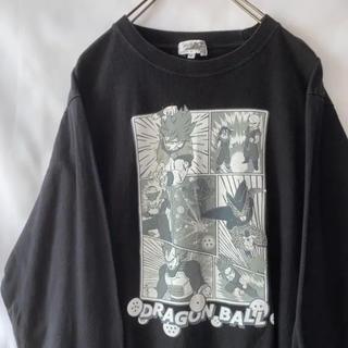 ドラゴンボール(ドラゴンボール)のレア DRAGONBALL ドラゴンボール 公式 アニメ ロンT 古着 ブラック(Tシャツ/カットソー(七分/長袖))