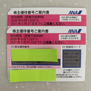 エーエヌエー(ゼンニッポンクウユ)(ANA(全日本空輸))のANA(全日空)株主優待券 二枚セット(航空券)