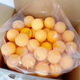 ほぼ新品☆卓球ピン球(オレンジ)136個(卓球)