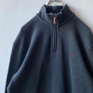 ラルフローレン(Ralph Lauren)の美品 90s Ralphlauren ハーフジップ トレーナー 古着 国内正規品(スウェット)