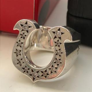 テンダーロイン(TENDERLOIN)の13号 テンダーロイン ホースシューリング ダイヤ入り 箱付き(リング(指輪))