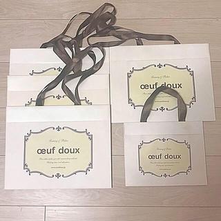 ウフドゥー(oeuf doux)のoeuf doux ショッパー ショップ袋 紙袋 5枚セット (ショップ袋)