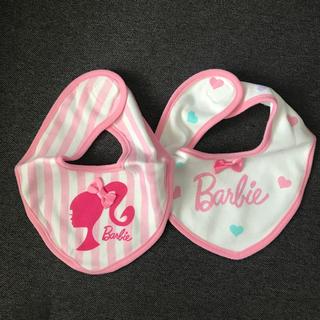 バービー(Barbie)のバービー スタイ2枚(ベビースタイ/よだれかけ)