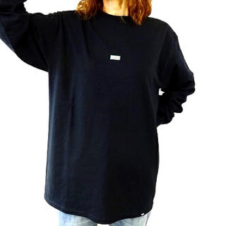 ヴァンズ(VANS)の残り1点 メンズ レディース バンズ ロンT 長袖Tシャツ 長袖 ブラック(Tシャツ/カットソー(七分/長袖))