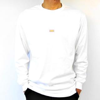 ヴァンズ(VANS)の残り1点 メンズ レディース バンズ ロンT 長袖Tシャツ 長袖 ホワイト(Tシャツ/カットソー(七分/長袖))