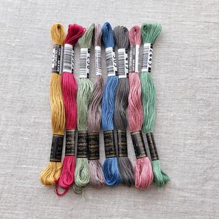 オリンパス(OLYMPUS)の秋色ニュアンス刺繍糸セット(生地/糸)