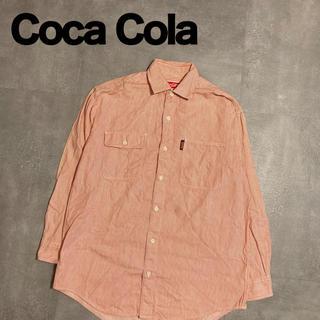 コカコーラ(コカ・コーラ)のCOCA COLA コカコーラ 開襟シャツ 企業物 ストライプ 90s(シャツ)