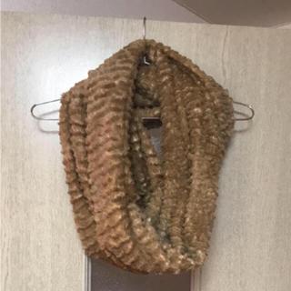 ジーナシス(JEANASIS)のジーナシス ファースヌード キャメル 使用一回 美品 (マフラー/ショール)