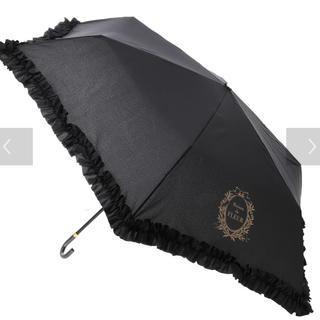 メゾンドフルール(Maison de FLEUR)のMaison de FLEUR ヒートカットフリル折りたたみ傘(傘)