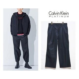 カルバンクライン(Calvin Klein)の27,500円新品【カルバンクライン 】LIMONTA社 ワイドパンツ 黒 L(その他)