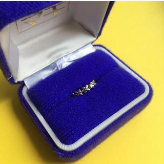 k14wg ホワイトゴールド 花柄 デザイン ピンキーリング(リング(指輪))