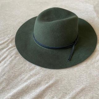 マウジー(moussy)の新品同様MOUSSYカーキウールハット女優帽(ハット)