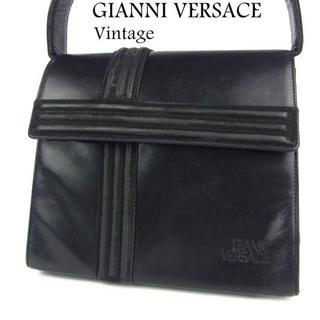 ジャンニヴェルサーチ(Gianni Versace)のジャンニ ヴェルサーチ ヴィンテージ レザー ハンド バッグ(ハンドバッグ)