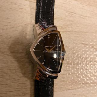 ベンチュラ(VENTURA)の人気品! HAMILTON ベンチュラ H244110 ブラック シルバー 革(腕時計(アナログ))