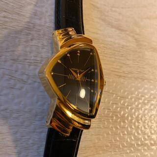 ベンチュラ(VENTURA)の希少品! HAMILTON ベンチュラ H243010 ゴールド ブラック 黒金(腕時計(アナログ))