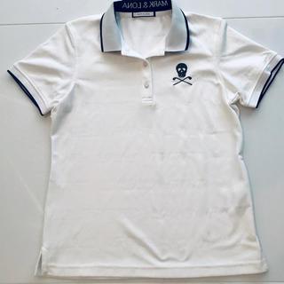 マークアンドロナ(MARK&LONA)の超美品 マークアンドロナ  半袖ポロシャツ 白 40(ウエア)