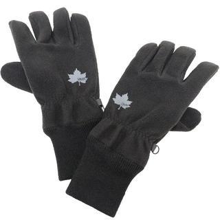 ロゴス(LOGOS)のLOGOS ロゴス 手袋 グローブ 5本指 防風フリース★ブラック【新品】(手袋)