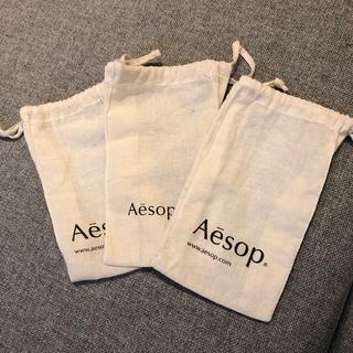 イソップ(Aesop)のAesop巾着3枚+ホームケアセット(ポーチ)