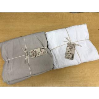 ムジルシリョウヒン(MUJI (無印良品))の新品無印良品MUJIオーガニックコットン敷ふとんシーツゴム付2枚A20730(シングルベッド)