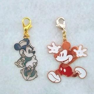 ディズニー(Disney)のミッキーマウス&ミニーマウス♡マスクチャーム2個セット(チャーム)