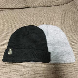 バートン(BURTON)の男女兼用 ニット帽 ニットキャップ 2点セット 黒 グレー BURTON(ニット帽/ビーニー)