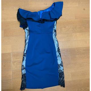 エンジェルアール(AngelR)のジャンマクレーン ☆ ワンショルダー ドレス 青緑 キャバドレス (その他ドレス)
