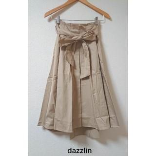 ダズリン(dazzlin)のタグ付き新品! サッシュリボン付きタックフレアスカート 7,590円(ロングスカート)