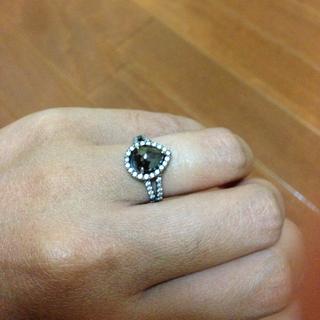 K18WG ブラックダイヤモンドリング(リング(指輪))