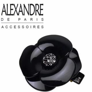 アレクサンドルドゥパリ(Alexandre de Paris)の新品・未使用 アレクサンドル ドゥ パリ カメリア バレッタ S ブラック(バレッタ/ヘアクリップ)