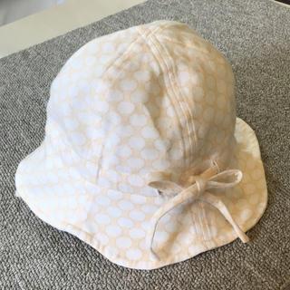 セリーヌ(celine)のセリーヌ ベビー帽子 48cm ベージュ(帽子)