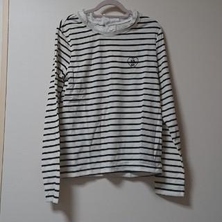 レピピアルマリオ(repipi armario)の新品 タグ付き レピピアルマリオ  襟レース ロンT  M(Tシャツ(長袖/七分))