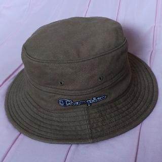 チャンピオン(Champion)のチャンピオン メンズ 帽子 バケットハット カーキ デニム風 古着 ヴィンテージ(ハット)