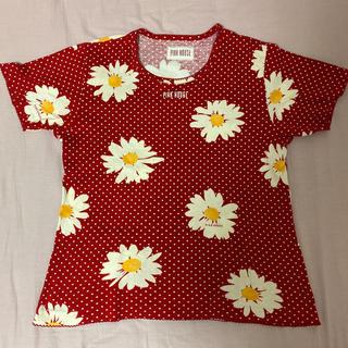 ピンクハウス(PINK HOUSE)のピンクハウス 赤 花柄 半袖Tシャツ(Tシャツ(半袖/袖なし))