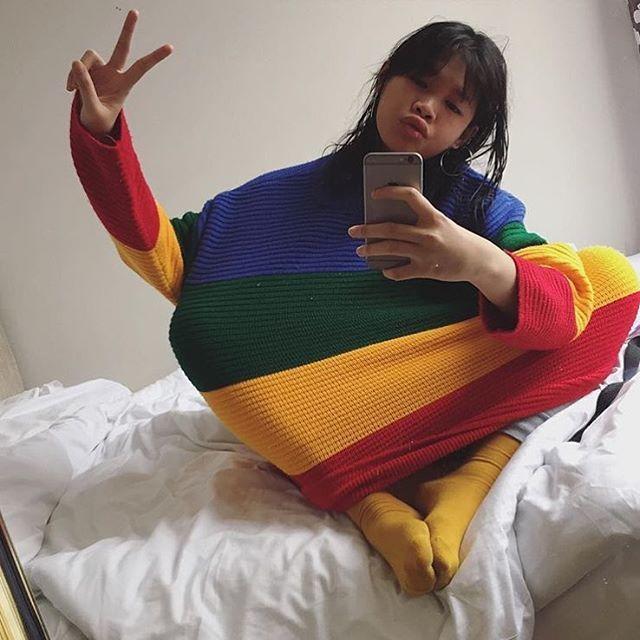 UNIF(ユニフ)のUNIF☆レインボースウェット レディースのトップス(ニット/セーター)の商品写真