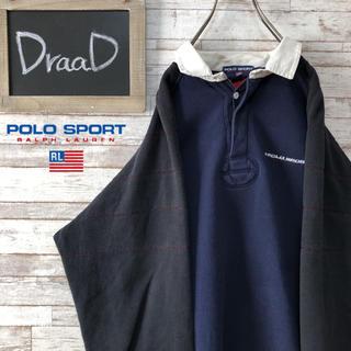 ラルフローレン(Ralph Lauren)の【古着】90s POLO SPORT ラルフローレン ラガーシャツ XL(スウェット)