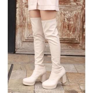 ナイスクラップ(NICE CLAUP)の【新品✨】NICE CLAUP 2019 ストレッチロングブーツ Mサイズ(ブーツ)