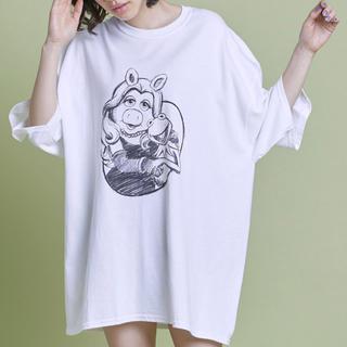 リトルサニーバイト(little sunny bite)のlittle sunny bite Miss piggy big tee (Tシャツ(半袖/袖なし))