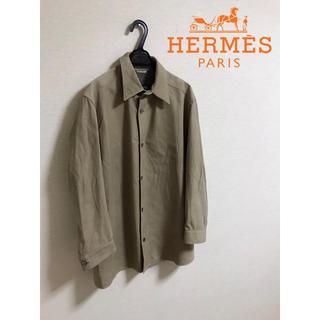 エルメス(Hermes)の最高級 HERMES エルメス カウレザー シャツ 50(シャツ)