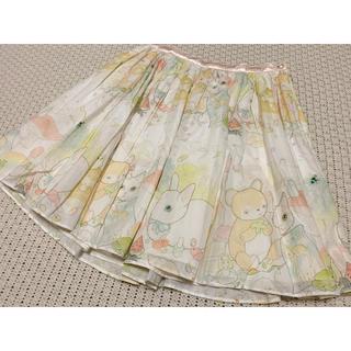 ミルク(MILK)のMILK どうぶつ柄 スカート(ひざ丈スカート)
